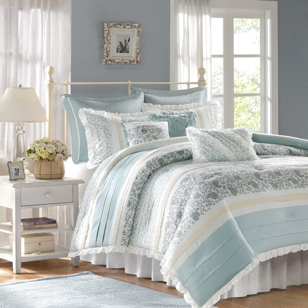 Chambery 180 Thread Count 100% Cotton Comforter Set by August Grove